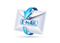 围绕邮件的箭头
