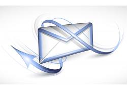 卡通箭头与邮件