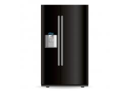 黑色现代化冰箱