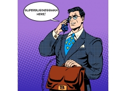 打电话的卡通超人