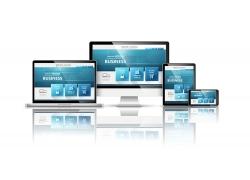 蓝色网页屏幕