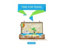 行李箱和海边度假
