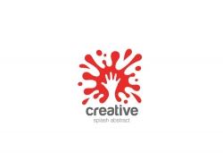 手和墨迹logo