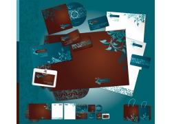蓝色的印花卡片设计