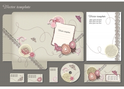 温馨的花朵卡片设计