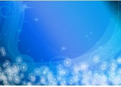 蓝色动感星光线条背景