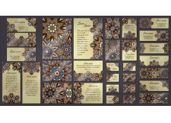 创意曼陀罗花纹卡片设计
