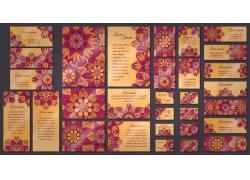 紫色花纹VIS设计