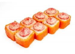美味三文鱼寿司卷图