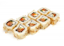 寿司卷美食摄影图