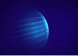 蓝色球体背景