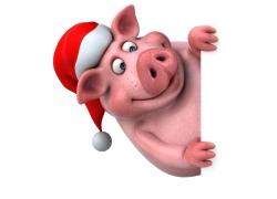圣诞节卡通猪
