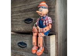 木雕玩具摄影