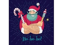 卡通圣诞老人背景