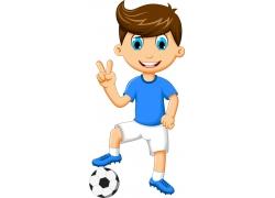 男孩和足球