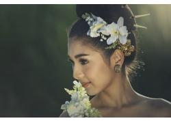 鲜花美女摄影