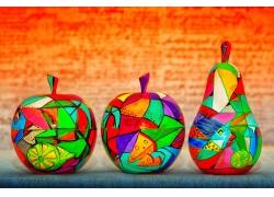 水果上的彩绘