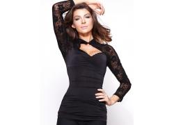 黑色礼服模特摄影