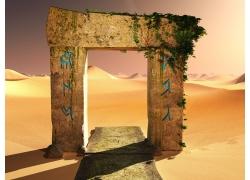 沙漠里的建筑