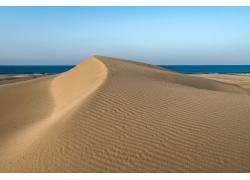 蓝天天空沙丘背景