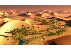 沙漠中的绿洲