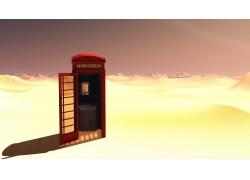 沙漠中的电话亭