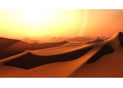 阳光下的沙丘