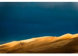 蓝天天空沙漠背景