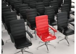 前面的红色椅子