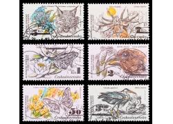 动物插画邮票图片