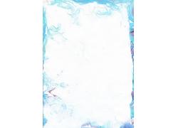 蓝色水彩背景边框