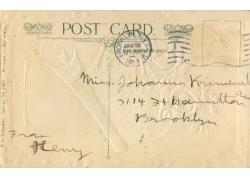 怀旧明信片邮戳图片