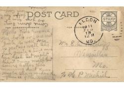 老式明信片邮戳图片