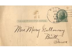 印邮戳的老明信片图片