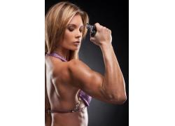 强壮的健身女人图片
