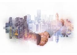 合作和城市背景