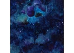 蓝色水彩墨迹背景