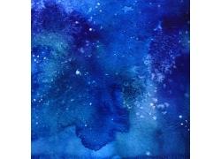 蓝色水彩背景纹理