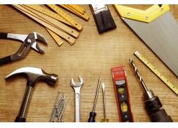 装修工具木板背景