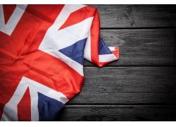木板上英国国旗