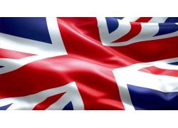 褶皱的英国国旗