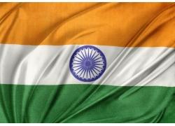 有皱纹印度国旗
