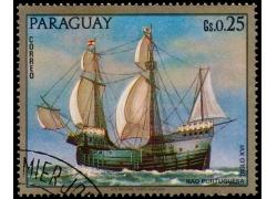 蓝天大海帆船邮票图片