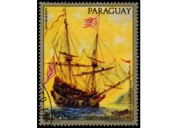 黄色帆船邮票图片
