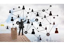 城市建筑网络商务男人