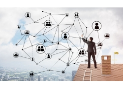 城市建筑微信图标商务男人