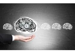 人物大脑手臂背景