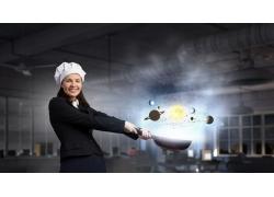 国外美女厨师摄影