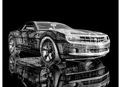 科迈罗跑车3D效果