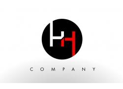 HH字母logo标志